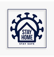 stay home poster for self protection from vector image