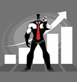 successful business growth vector image vector image