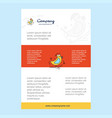 template layout for bird comany profile annual vector image vector image