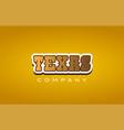 texas western style word text logo design icon vector image