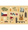 Traditional symbols of the Czech Republic vector image vector image