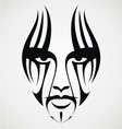 Tribal Face Tattoo vector image vector image