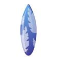 tropical surfboard icon cartoon style vector image