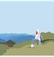web on theme trekking vector image