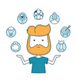 young start-up hipster businessman with start-up vector image