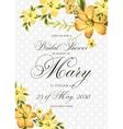 Bridal Shower Invitation with hibiskus flowers vector image