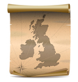 United Kingdom Vintage Map vector image