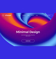 abstract design template with 3d flow shapes vector image vector image