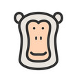 baboon face vector image