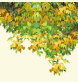 background painted autumn yellow-green dense vector image vector image
