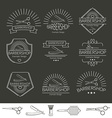 Barber and Hairdressing Icons vector image vector image