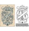 Baroque design with floral details Elements vector image vector image
