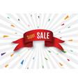 big sale bannersuper sale banner ribbon vector image vector image