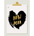 Black Heart New York Poster vector image vector image