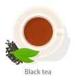 black tea icon cartoon style vector image vector image
