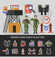 border guard icons collection vector image vector image