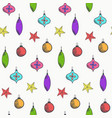bright cute christmas balls pattern vector image