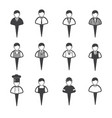 business people icons set man vector image