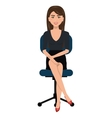 business person sitting on office chair vector image