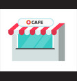 cafe or restaurant shop building vector image vector image