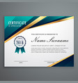 certificate design with luxury golden shapes vector image vector image