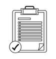 checklist icon cartoon in black and white vector image vector image