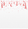christmas valentines day red confetti with vector image vector image