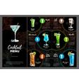 Cocktail menu design vector image vector image