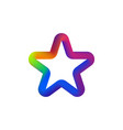 colorful star logo isolated star- icon on vector image vector image