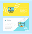 computer presentation abstract corporate business vector image