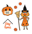 corona halloween icon set vector image