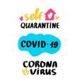 corona virus lettering vector image vector image