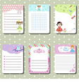 Cute creative cards vector image