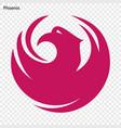 emblem phoenix vector image