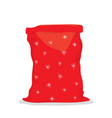 empty bag santa claus vector image