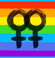 female homosexuality symbol vector image vector image