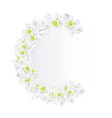 festive frame bouquet white rhododendrons vector image vector image