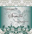 floral vintage invitation vector image