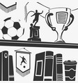 football trophies and elements vector image vector image