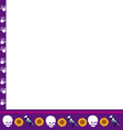 frame with skulls vector image
