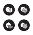 Fruits black icons set vector image vector image