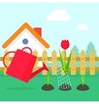 Gardening garden landscape vector image