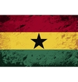 Ghanaian flag Grunge background vector image vector image