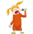 Girl Singer vector image