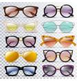glasses cartoon eyeglasses or sunglasses in vector image vector image