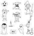 Halloween Doodle set zombie vector image
