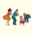 hide and seek game adults play vector image vector image