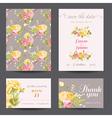 invitation flower card set - save date vector image vector image