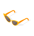 Isometric 3d of cat eye glasses vector image
