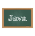 Java text on chalkboard vector image vector image